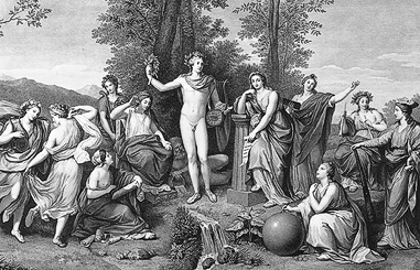 Apollo & the Muses, 1784, engraving/etching - Raphael Morghen