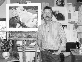 John Haysom in his studio